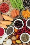 Nourriture biologique pour meilleur Brain Power photo libre de droits