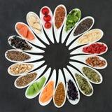 Nourriture biologique pour promouvoir Brain Power images stock