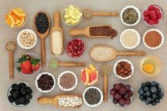 Nourriture biologique pour suivre un régime photos libres de droits