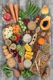 Nourriture biologique pour un régime élevé de fibre Image libre de droits