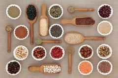Nourriture biologique sèche de régime photo libre de droits