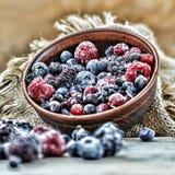 Nourriture biologique surgelée de baies photo libre de droits