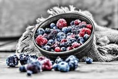Nourriture biologique surgelée de baies photo stock
