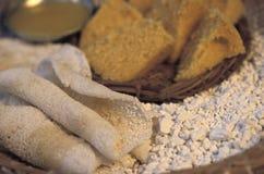 Nourriture brésilienne : Beiju (également connu sous le nom de tapioca) Image stock