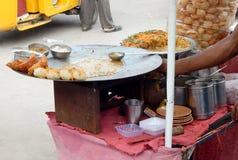 Nourriture-causerie indienne de rue Images libres de droits