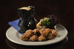 Nourriture : champignons frits Photo libre de droits