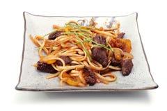 Nourriture chaude du Japon d'une plaque Photos libres de droits