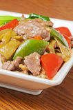 Nourriture chinoise --Boeuf mariné de chou Photo stock