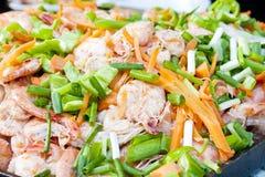 Nourriture chinoise - fruits de mer Images libres de droits
