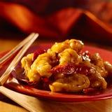 Nourriture chinoise - le poulet de la TSO générale. Images libres de droits