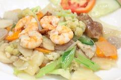 Nourriture chinoise nommée capuchon-banc de sable Photographie stock
