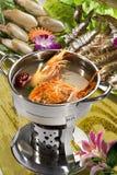 Nourriture chinoise, plan rapproché de fruits de mer Photo stock