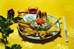 Nourriture chinoise, plaque Photographie stock libre de droits