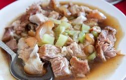 Nourriture chinoise, porc braisé photographie stock libre de droits