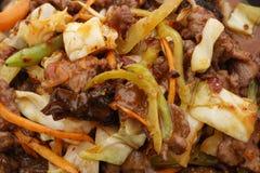 Nourriture chinoise Veau chaud en sauce aigre-doux images libres de droits