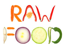 Nourriture crue Photos libres de droits