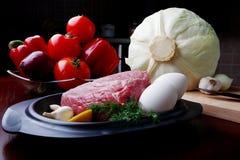 Nourriture crue Images stock