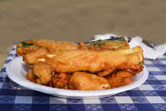 Nourriture cuite à la friteuse Photo stock