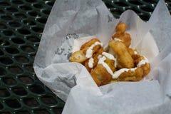 Nourriture cuite à la friteuse Photos stock
