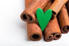 Nourriture cuite avec amour Le jour de Valentine Photos libres de droits