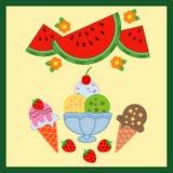 Nourriture délicieuse d'été Illustration Stock