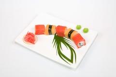 Nourriture d'Asiatique de sushi Photographie stock