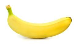 Nourriture d'isolement par fruit jaune de banane sur le blanc images stock