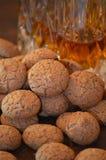 Nourriture d'Italien d'amaretti de biscuits photographie stock libre de droits