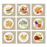 Nourriture d'une plaque Photographie stock libre de droits