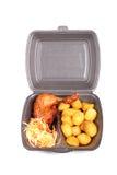 Nourriture dans la boîte en plastique portative images stock