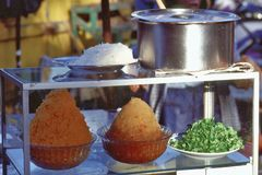Nourriture de Bangkok, de la Thaïlande, de rue et marché Photographie stock