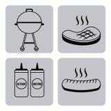 Nourriture de barbecue illustration de vecteur