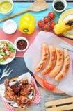 Nourriture de barbecue d'été images stock