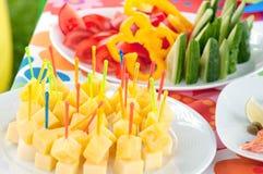 Nourriture de buffet Photographie stock libre de droits