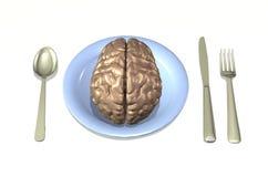 Nourriture de cerveau Photo libre de droits