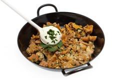 Nourriture de champignon de couche avec des chanterelles Photo libre de droits