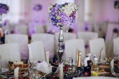 Nourriture de décor de réception de mariage Image libre de droits