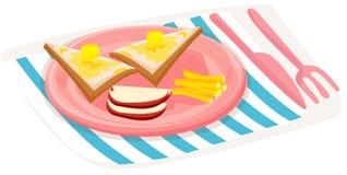 Nourriture de déjeuner illustration stock
