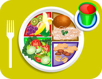 Nourriture de déjeuner de Vegan ma plaque Photo stock