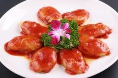 Nourriture de dessert de sauce tomate Photographie stock libre de droits