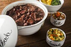 Nourriture de Feijoada de Brésilien photographie stock libre de droits