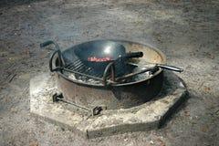Nourriture de feu de camp Image stock