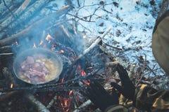 Nourriture de hausse d'hiver image stock