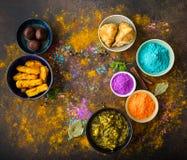 Nourriture de Holi d'Indien photos stock