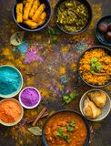 Nourriture de Holi d'Indien images stock