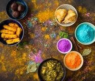 Nourriture de Holi d'Indien image stock