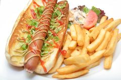 Nourriture de hot dog Photos libres de droits