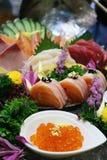 Nourriture de Japanness de sashimi de mélange pour la santé de substance gluante Image libre de droits