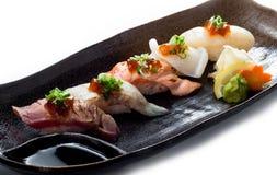 Nourriture de Japonais de gril de sushi Photographie stock libre de droits