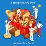 Nourriture de la boulangerie 01 isométrique Photos stock